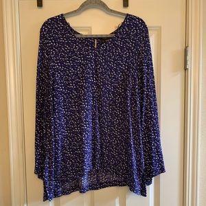 Fun tie-sleeve purple blouse